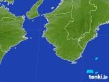 2017年08月09日の和歌山県の雨雲の動き