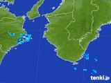 2017年08月10日の和歌山県の雨雲の動き