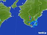 2017年08月12日の和歌山県の雨雲の動き