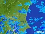 2017年08月15日の茨城県の雨雲の動き