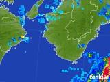 2017年08月15日の和歌山県の雨雲の動き