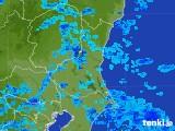 2017年08月16日の茨城県の雨雲の動き