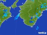 2017年08月16日の和歌山県の雨雲の動き