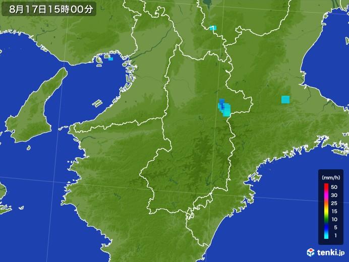 奈良県の雨雲の動き(2017年08月17日)