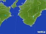 2017年08月19日の和歌山県の雨雲の動き