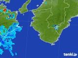 2017年08月21日の和歌山県の雨雲の動き