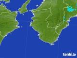 2017年08月22日の和歌山県の雨雲の動き