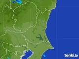 2017年08月23日の茨城県の雨雲の動き