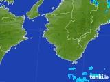 2017年08月23日の和歌山県の雨雲の動き