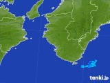 2017年08月24日の和歌山県の雨雲の動き
