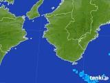 2017年08月25日の和歌山県の雨雲の動き