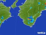 2017年08月30日の和歌山県の雨雲の動き