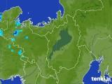2017年09月03日の滋賀県の雨雲レーダー