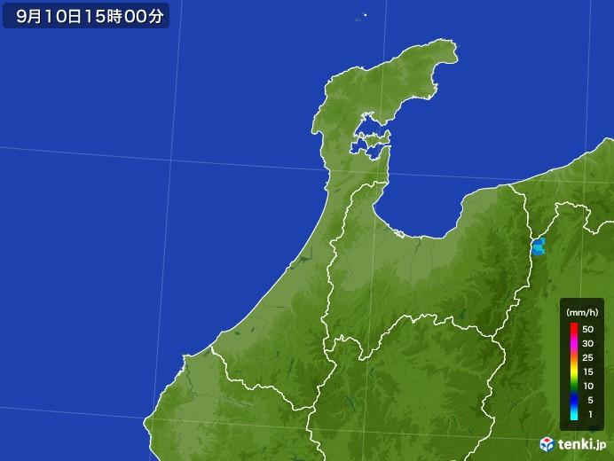 石川県の雨雲レーダー(2017年09月10日)