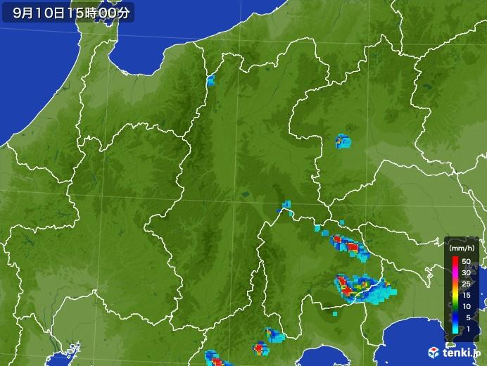 長野県の雨雲レーダー(2017年09月10日)
