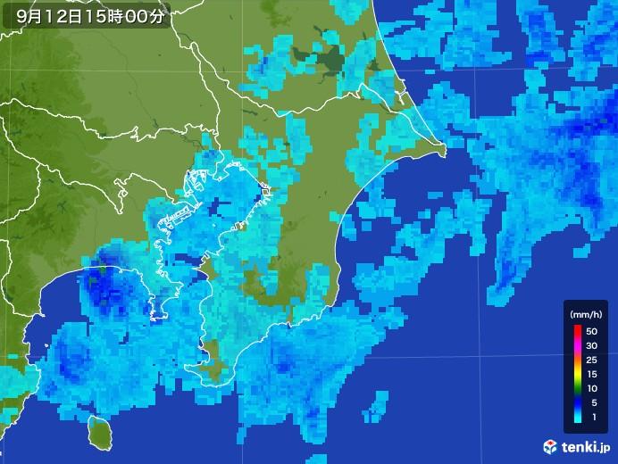 千葉県 雨雲の動き