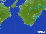 2017年10月03日の和歌山県の雨雲レーダー