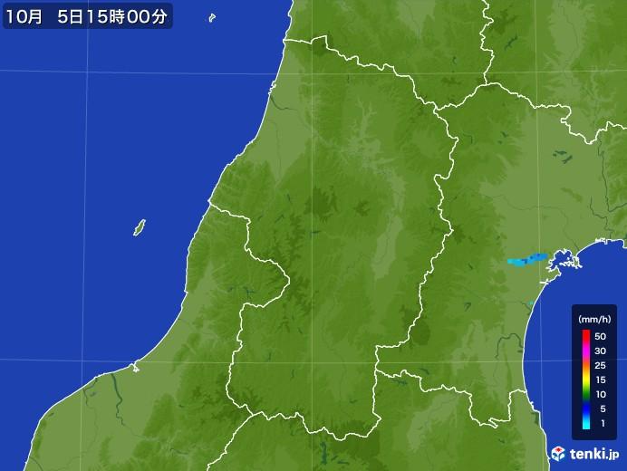 山形県の雨雲レーダー(2017年10月05日)