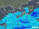 2017年10月14日の香川県の雨雲の動き