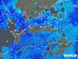 2017年10月15日の香川県の雨雲の動き
