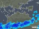 2017年10月17日の香川県の雨雲の動き