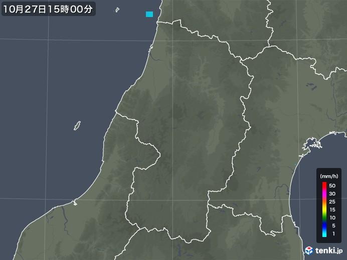 山形県の雨雲レーダー(2017年10月27日)