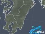 2017年11月27日の宮崎県の雨雲の動き