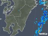 2017年11月28日の宮崎県の雨雲の動き