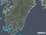 2017年12月07日の宮崎県の雨雲の動き