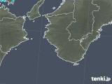 2017年12月10日の和歌山県の雨雲の動き