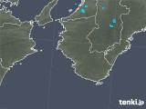 2017年12月11日の和歌山県の雨雲の動き