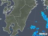 2017年12月15日の宮崎県の雨雲の動き