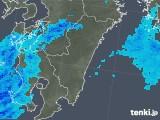 2017年12月16日の宮崎県の雨雲の動き