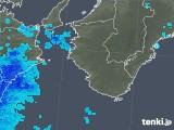 2017年12月24日の和歌山県の雨雲の動き