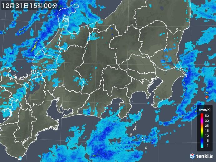 関東・甲信地方の雨雲レーダー(2017年12月31日)