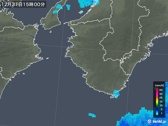 和歌山県の雨雲レーダー(2017年12月31日)
