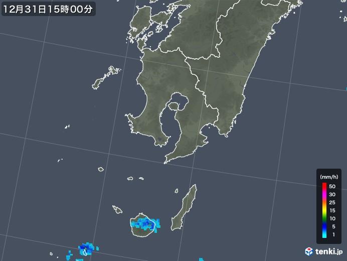 鹿児島県の雨雲レーダー(2017年12月31日)