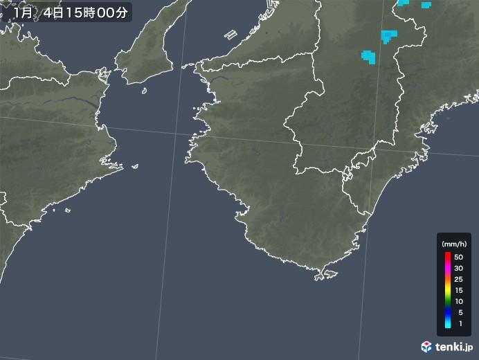 和歌山県の雨雲レーダー(2018年01月04日)