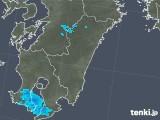 2018年01月04日の宮崎県の雨雲の動き