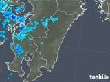 2018年01月09日の宮崎県の雨雲の動き