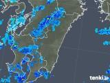 2018年01月10日の宮崎県の雨雲の動き