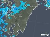 2018年01月11日の宮崎県の雨雲の動き