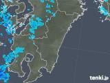 2018年01月12日の宮崎県の雨雲の動き