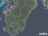 2018年01月15日の宮崎県の雨雲の動き