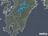 2018年01月17日の宮崎県の雨雲の動き