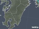 2018年01月25日の宮崎県の雨雲の動き