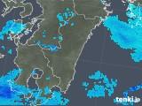 2018年01月28日の宮崎県の雨雲の動き