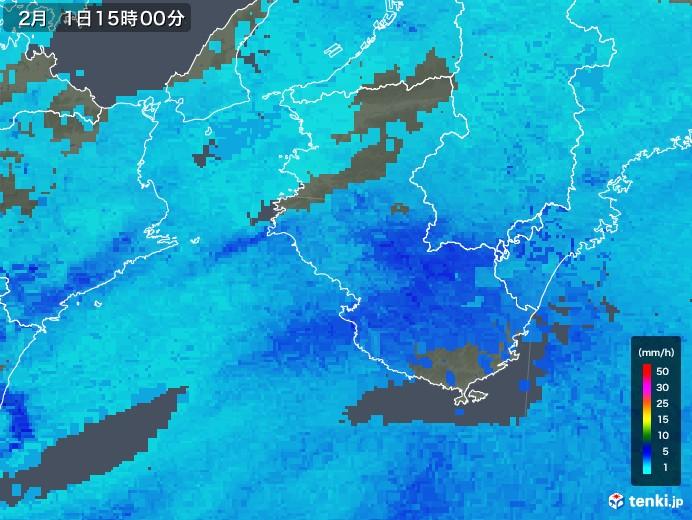 和歌山県の雨雲レーダー(2018年02月01日)
