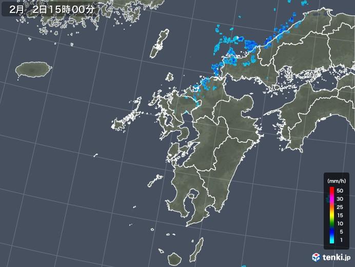 九州地方の雨雲レーダー(2018年02月02日)