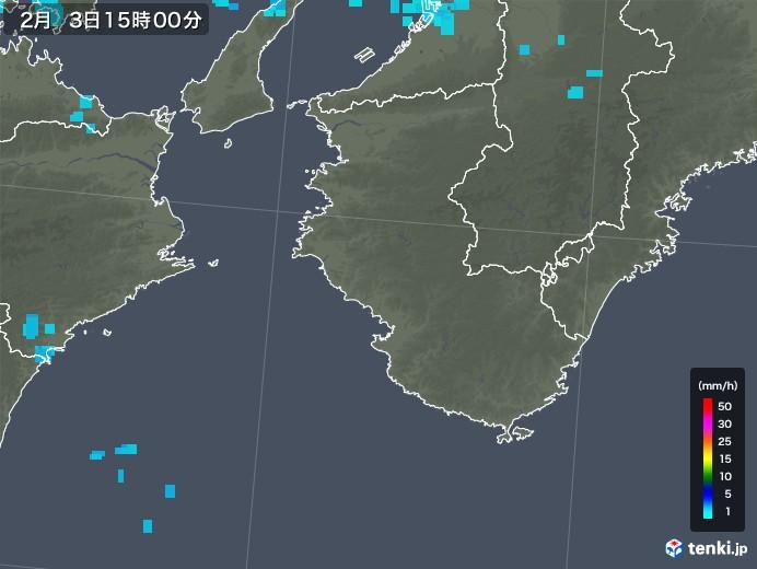和歌山県の雨雲レーダー(2018年02月03日)